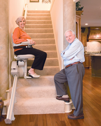 Stair lifts for the elderly residential stair lifts for Two story elevator cost